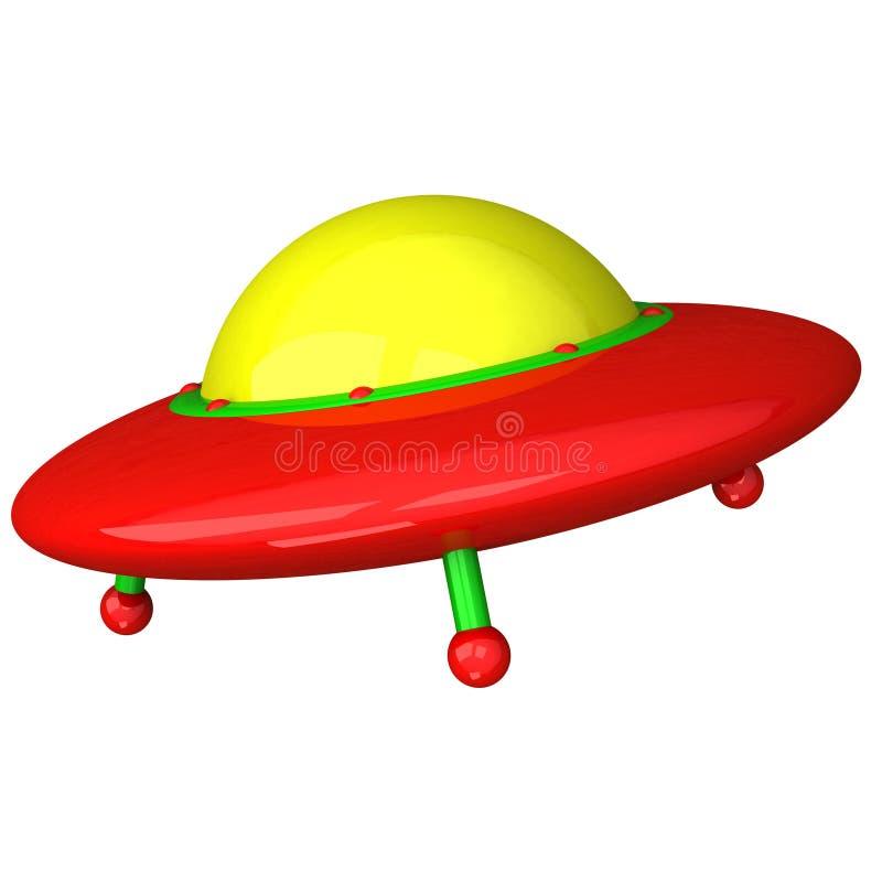 färgrik ufo för symbol 3d vektor illustrationer