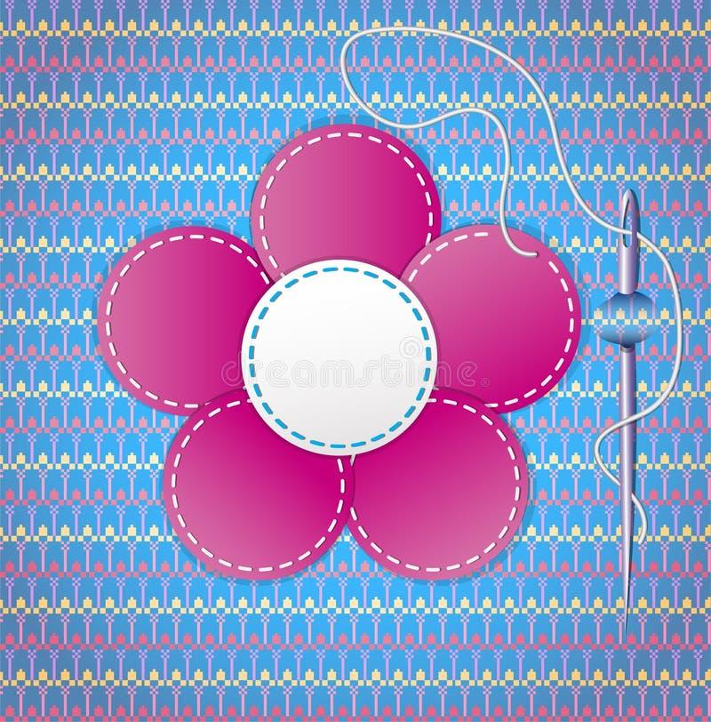 Färgrik urklippsbok med blomman. stock illustrationer
