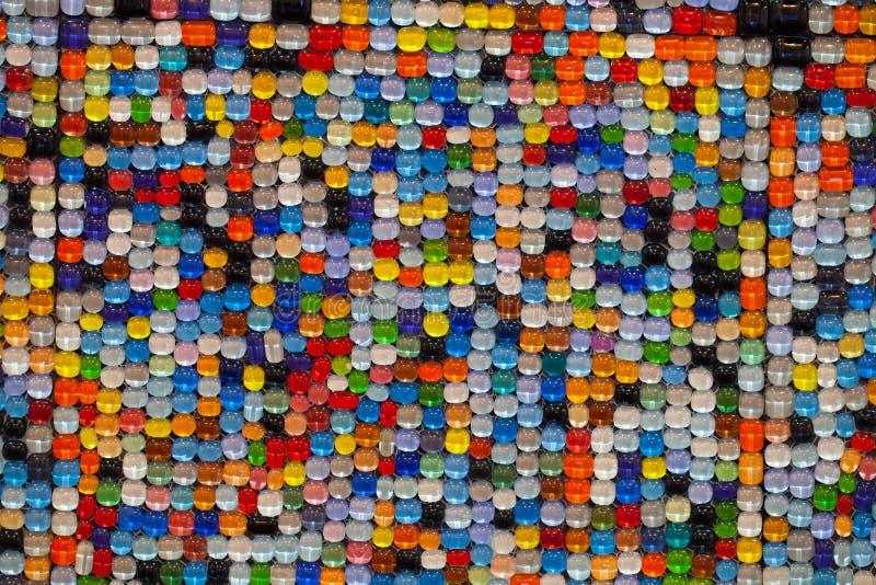 färgrik vägg för bakgrundstegelsten arkivbild