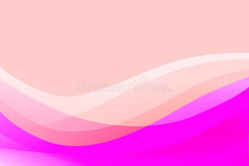Färgrik vågbakgrund för abstrakt vektor med ljusa färger som skuggar vektorillustrationen vektor illustrationer