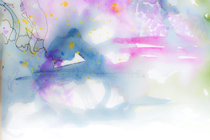 Färgrik vattenfärgbakgrund royaltyfri fotografi