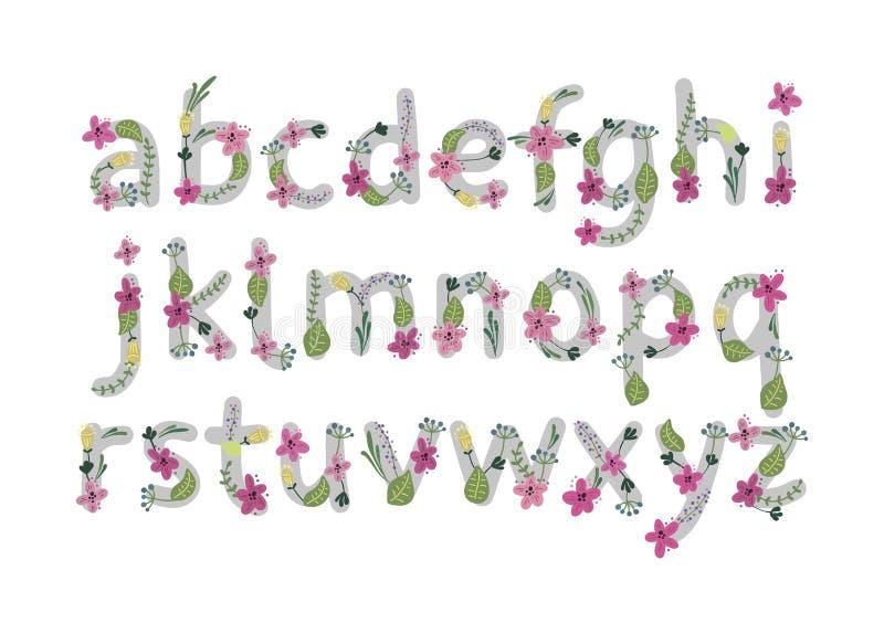 färgrik vektor för blommastilsortsillustration också vektor för coreldrawillustration stock illustrationer