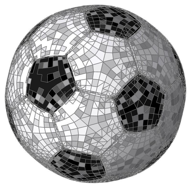 Färgrik vektor för fotbollfotbollboll royaltyfri illustrationer