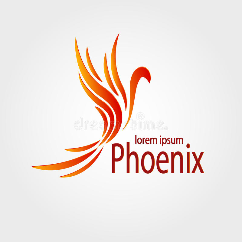 Färgrik vektor för Phoenix logotypmateriel arkivbild