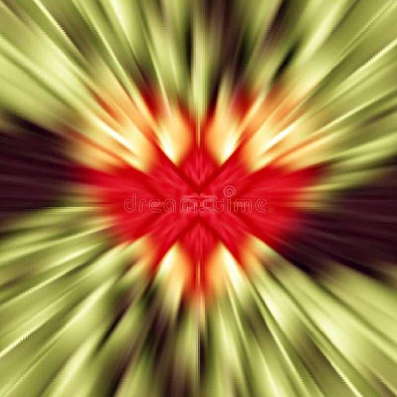 Färgrik vektor Från den brutna röda hjärtan i mitt avvika som strålar som färgen gör randig till kanterna För valentindag fotografering för bildbyråer