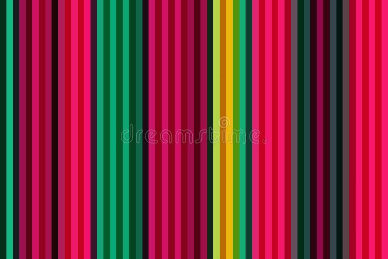 Färgrik vertikal linje bakgrund eller sömlös randig tapet, grafisk regnbåge royaltyfri illustrationer