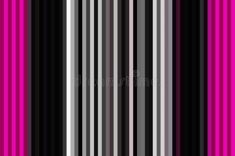 Färgrik vertikal linje bakgrund eller sömlös randig tapet, illustrationregnbåge royaltyfri illustrationer