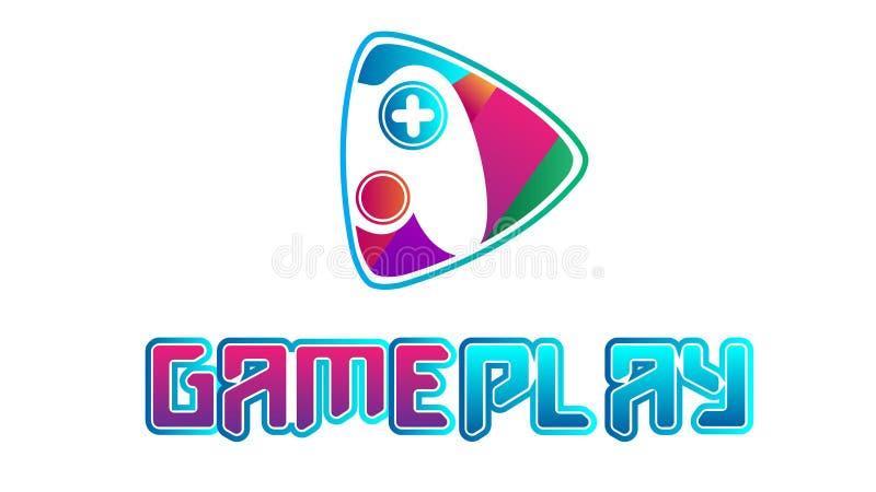 Färgrik videospellogovektor royaltyfri illustrationer