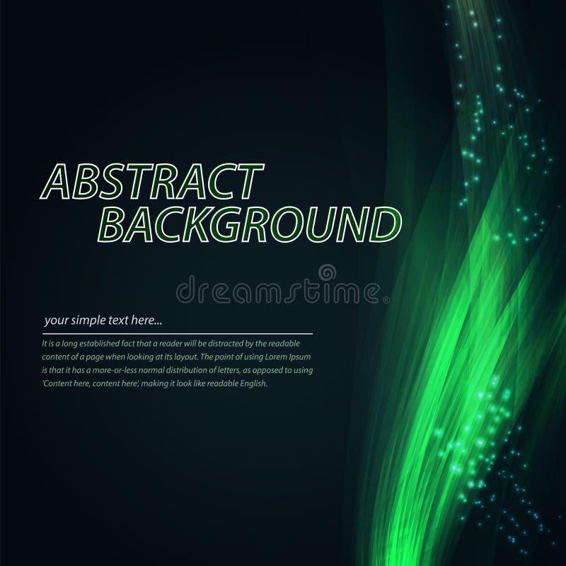 färgrik wave för abstrakt bakgrund Teknologistil med blandning royaltyfri illustrationer