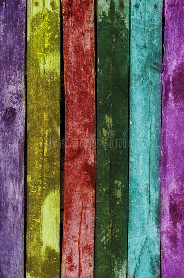 Färgrik Wood grungetexturbakgrund arkivfoto