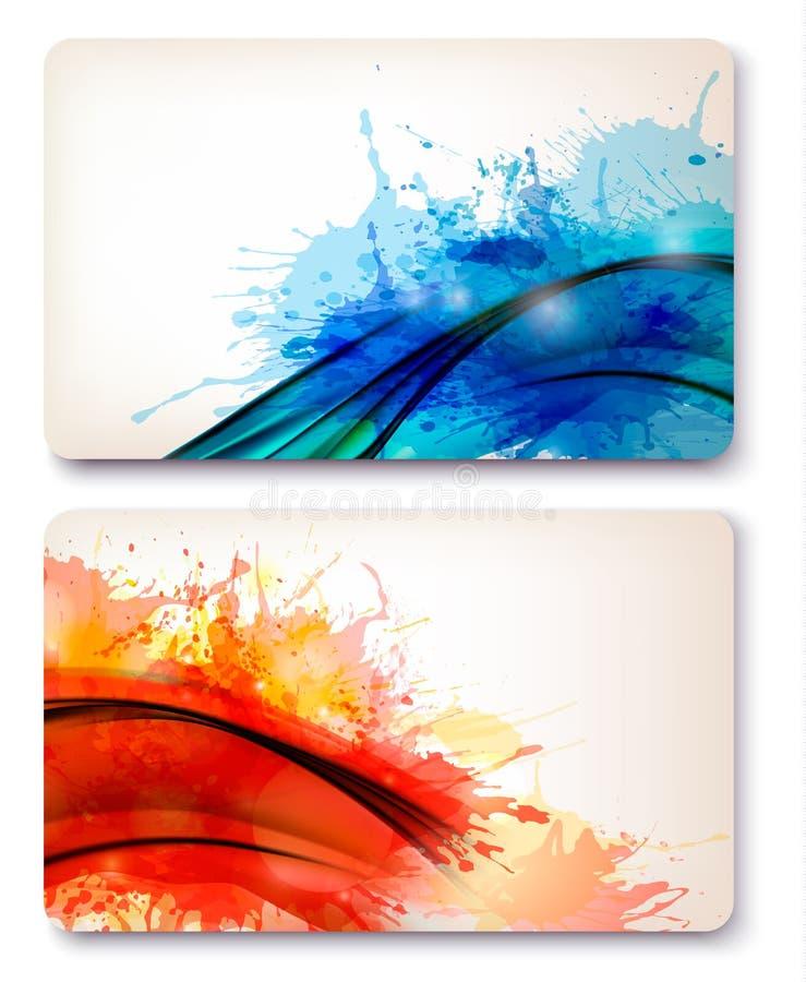 färgrika abstrakt vattenfärgbakgrunder. royaltyfri illustrationer