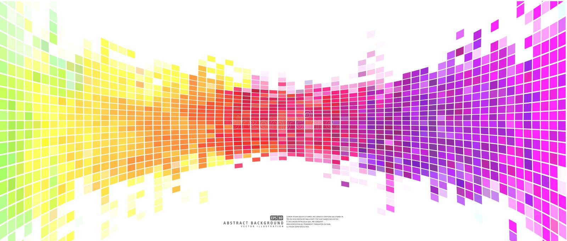 Färgrika abstrakta bakgrundsmosaikPIXEL royaltyfri illustrationer