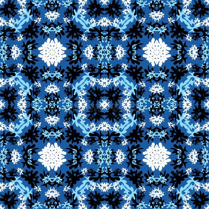 Färgrika abstrakta härliga objekt på en blå bakgrundsvektorillustration royaltyfri illustrationer