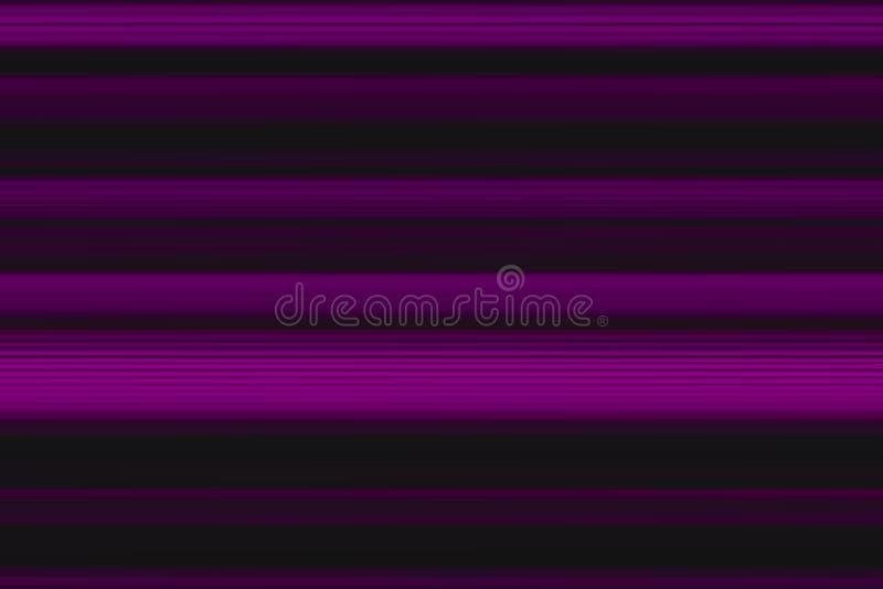 Färgrika abstrakta horisontallinjer bakgrund, textur i purpurfärgade och svarta signaler Modell för rengöringsduk-designen, websi royaltyfri illustrationer