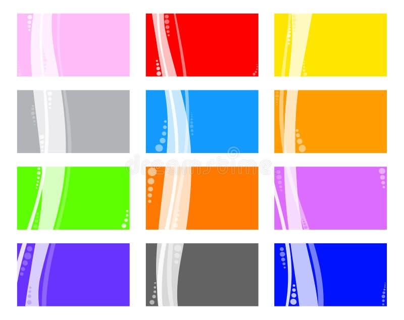 färgrika affärskort royaltyfri illustrationer