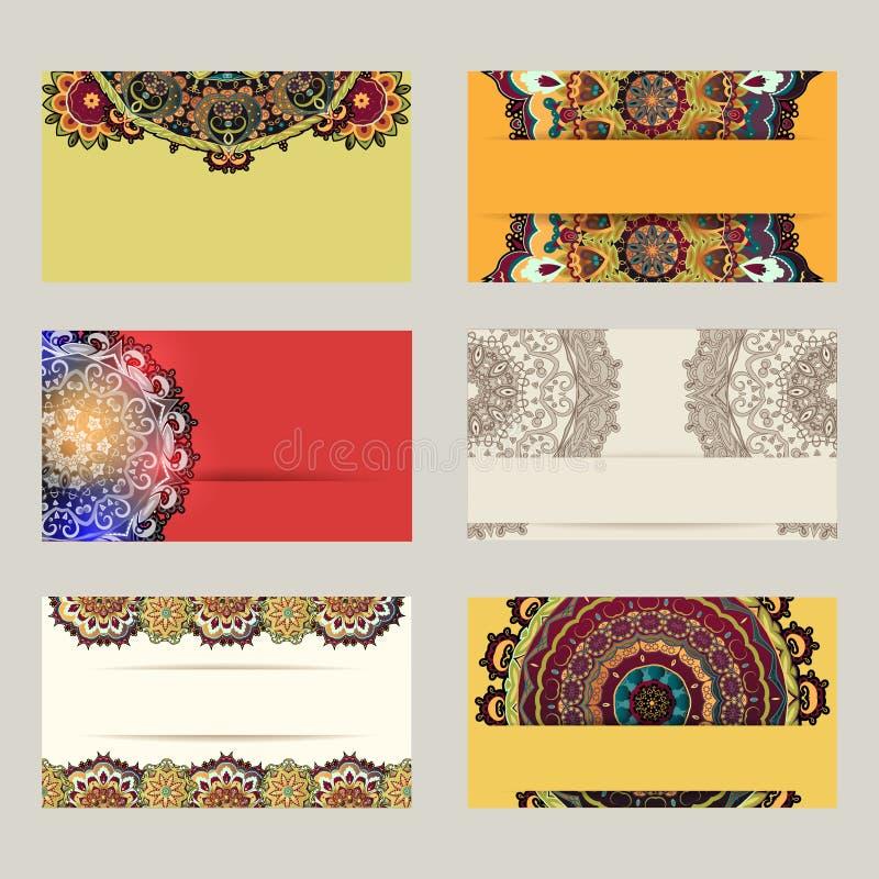 färgrika affärskort vektor illustrationer