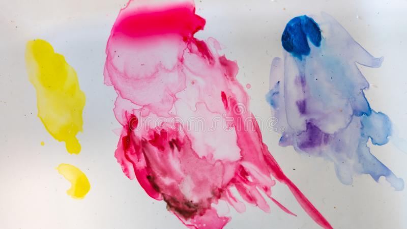 Färgrika Art Paint On Paper royaltyfria bilder