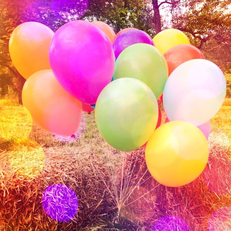färgrika ballons royaltyfri foto