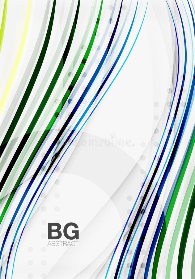 Färgrika band på grå färger royaltyfri illustrationer