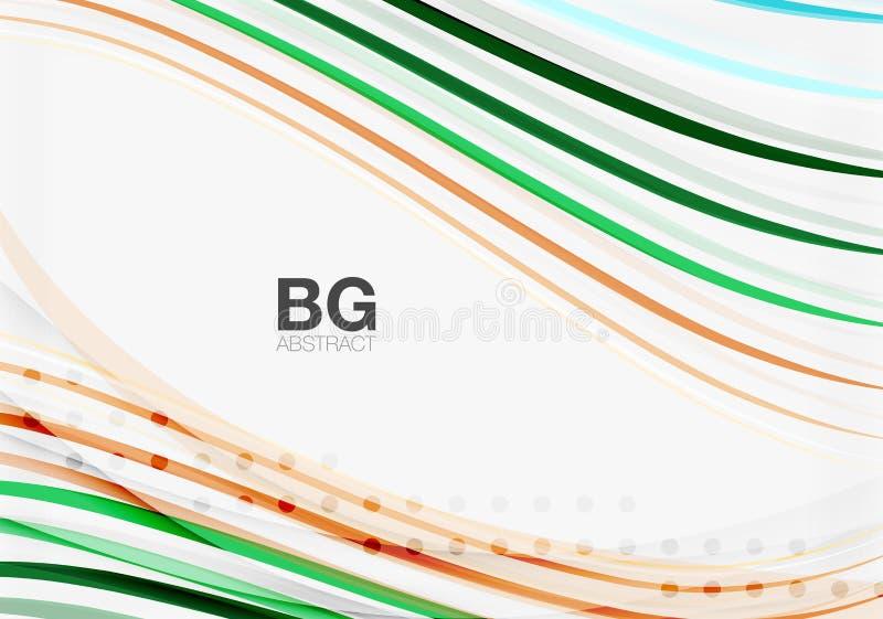 Färgrika band på grå färger vektor illustrationer