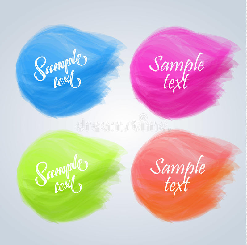 Färgrika baner för vektor royaltyfri illustrationer