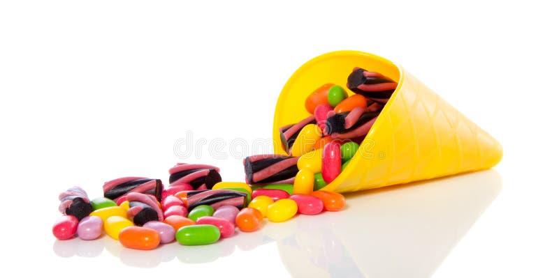 färgrika blandade sötsaker för godis arkivbild