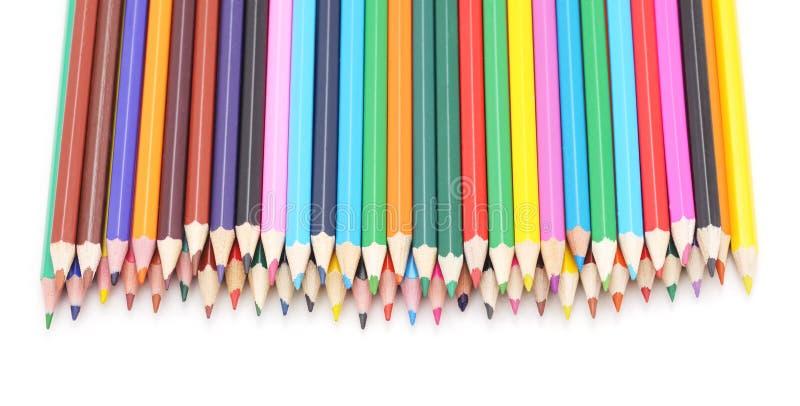 färgrika blyertspennor stock illustrationer