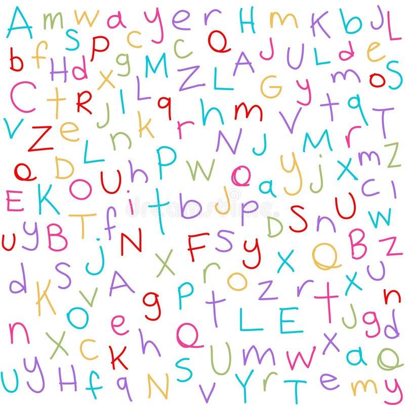 Färgrika bokstäver royaltyfri illustrationer
