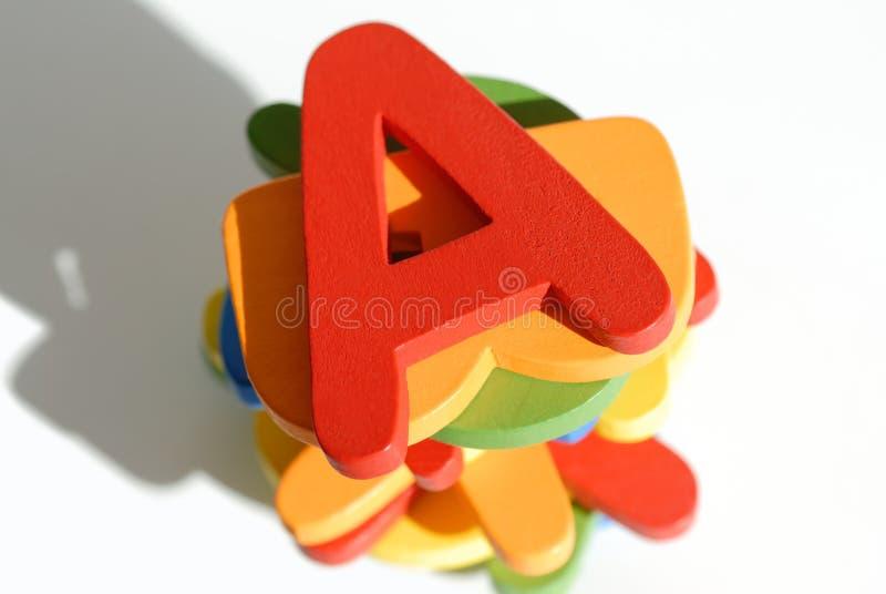 färgrika bokstäver royaltyfri bild