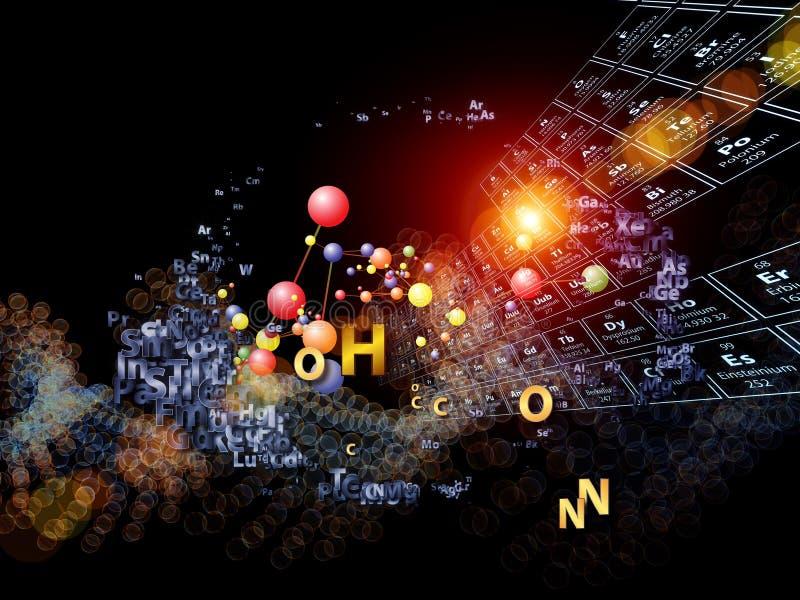 Färgrika Chemical element vektor illustrationer