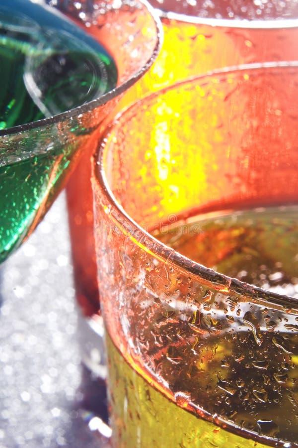 färgrika coctailar fotografering för bildbyråer