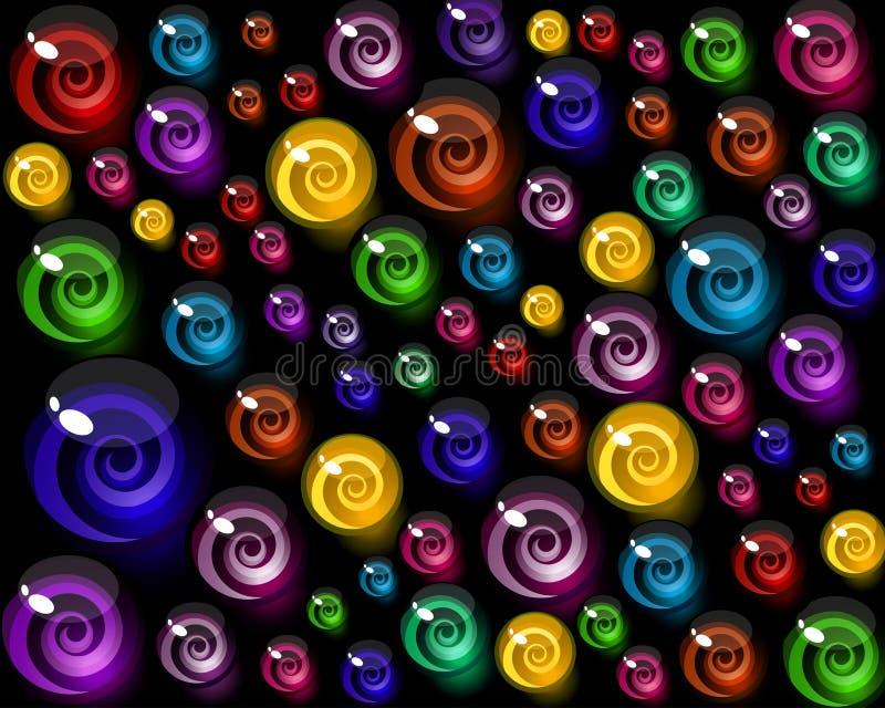 färgrika dekorativa element för bakgrundsgodis royaltyfri illustrationer