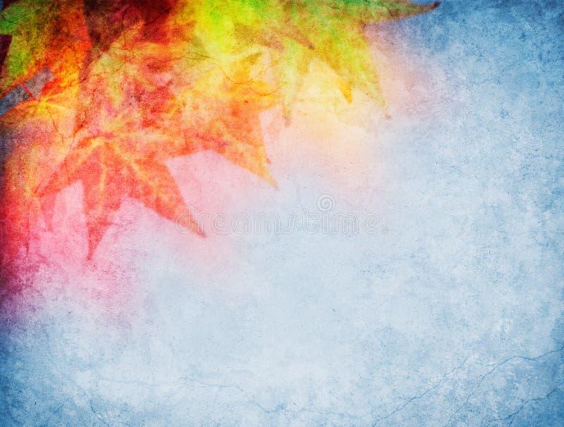 färgrika fallleaves royaltyfri illustrationer