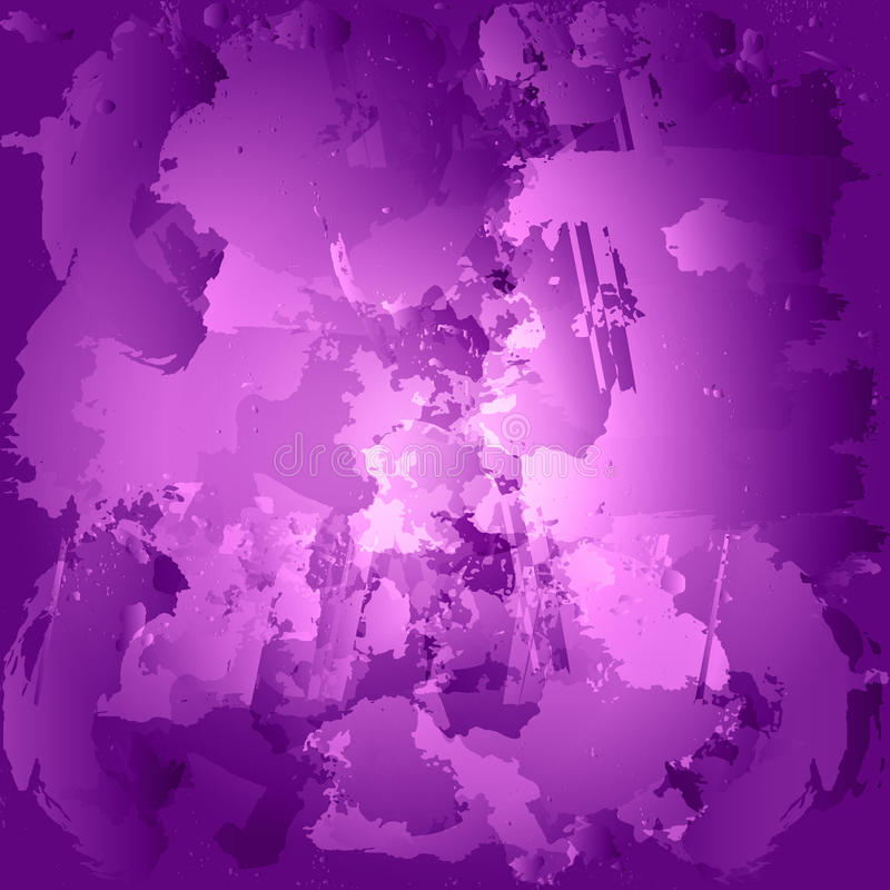 Färgrika fläckar för olje- målarfärg Målad klickvattenfärg Lilaborste stock illustrationer