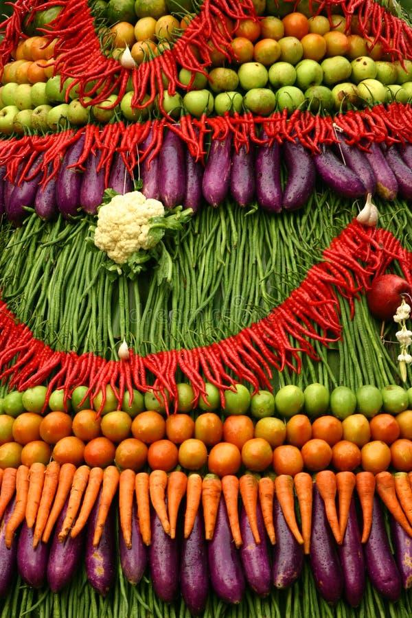 Färgrika frukter och grönsaker royaltyfri fotografi