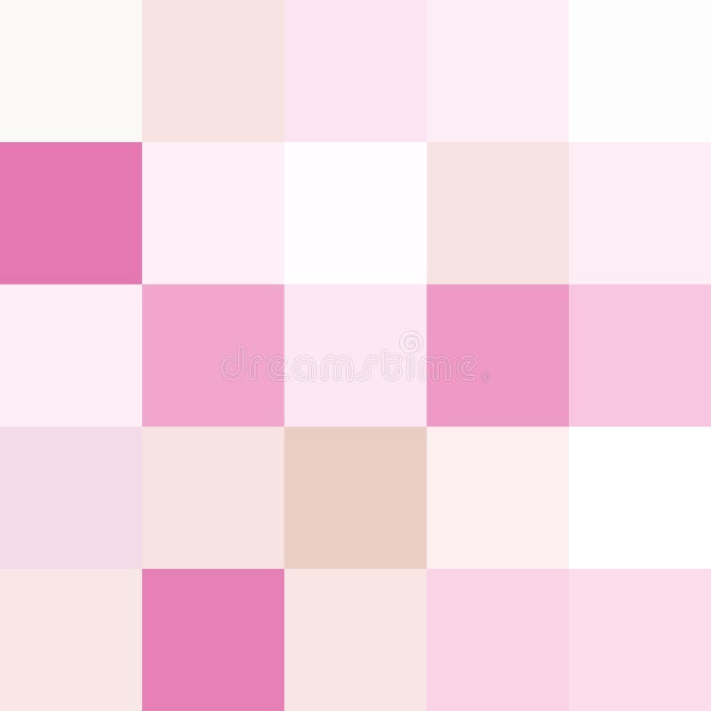 Färgrika fyrkanter färgar rosa pastell, mjukt pastellfärgat ljust för kvarter stock illustrationer