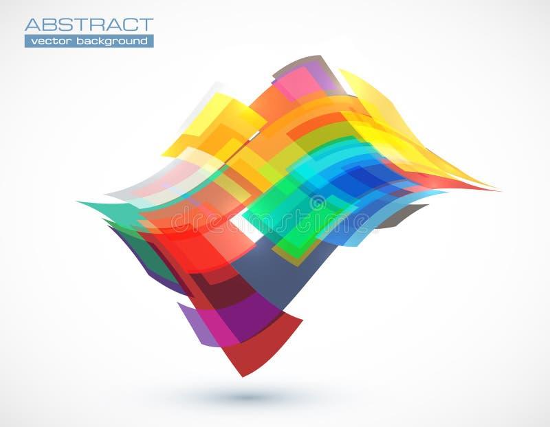 Färgrika fyrkanter för abstrakt vektor royaltyfri illustrationer