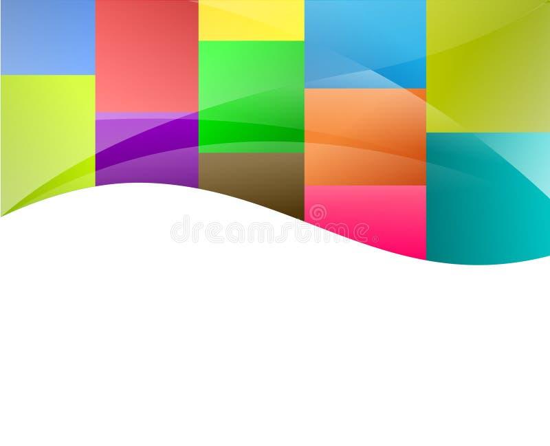färgrika fyrkanter för bakgrund royaltyfri illustrationer