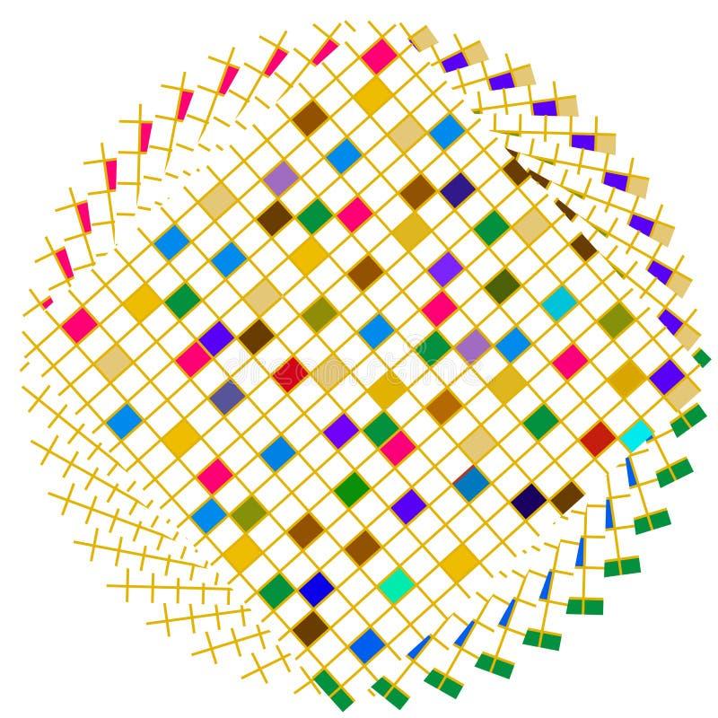 färgrika fyrkanter för cirkel vektor illustrationer