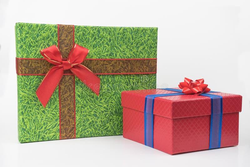 Färgrika gåvapackar, nytt år, dag för valentin` s royaltyfri fotografi