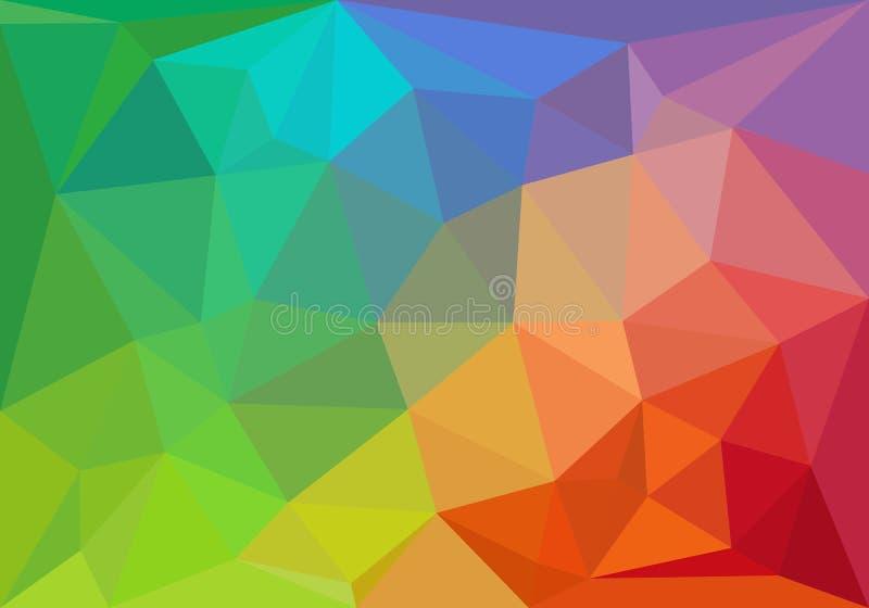 Färgrik geometrisk bakgrund, vektor stock illustrationer