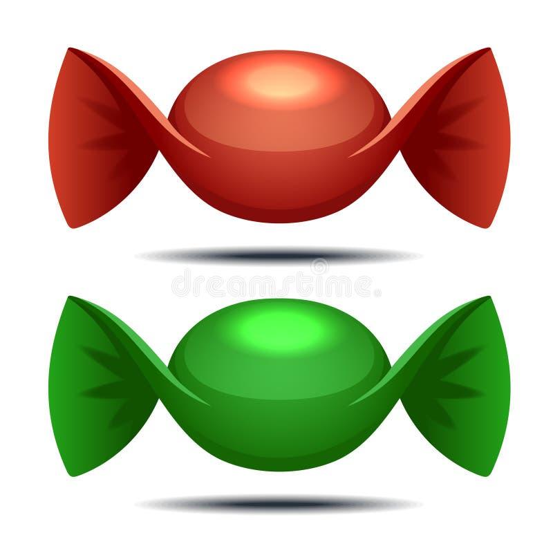 Färgrika godisar vektor illustrationer
