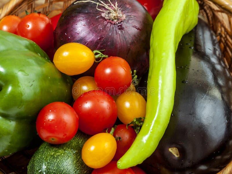Färgrika grönsaker fotografering för bildbyråer