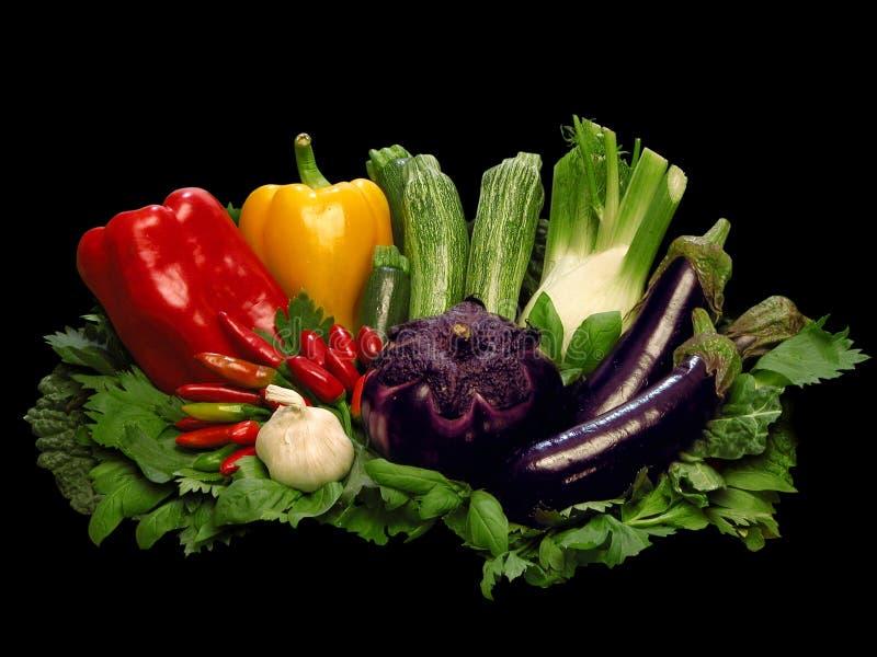 färgrika grönsaker royaltyfri fotografi