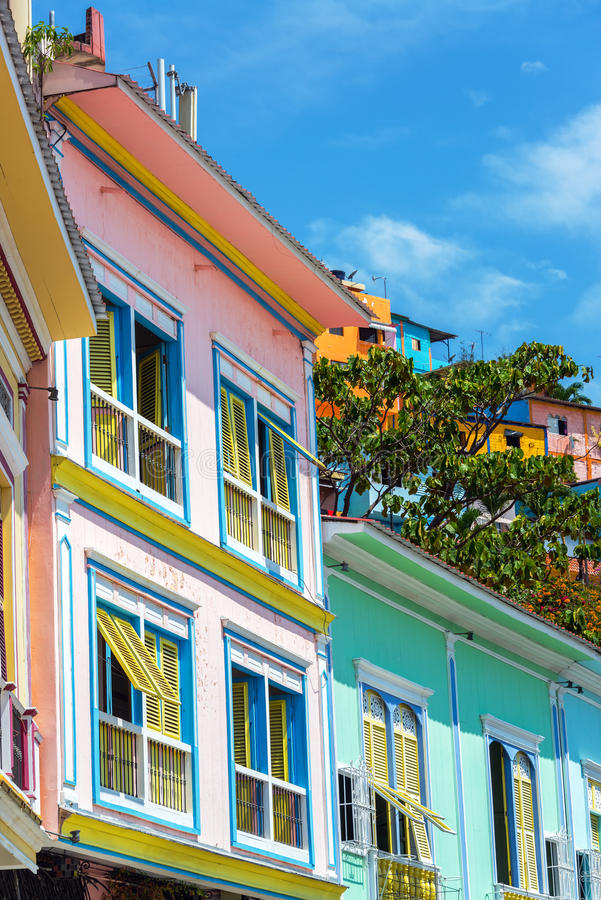 Färgrika Guayaquil, Ecuador arkivfoto