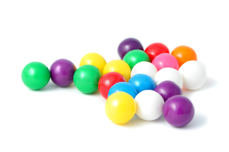 färgrika gumballs arkivfoton