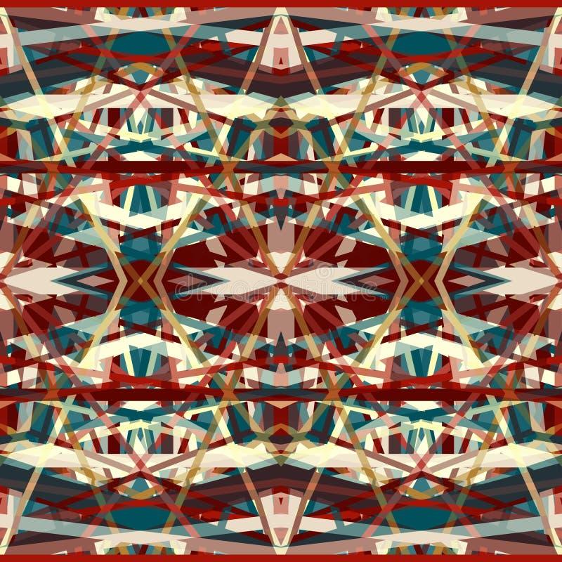 Färgrika härliga abstrakta geometriska linjer bakgrund i retro stil vektor illustrationer