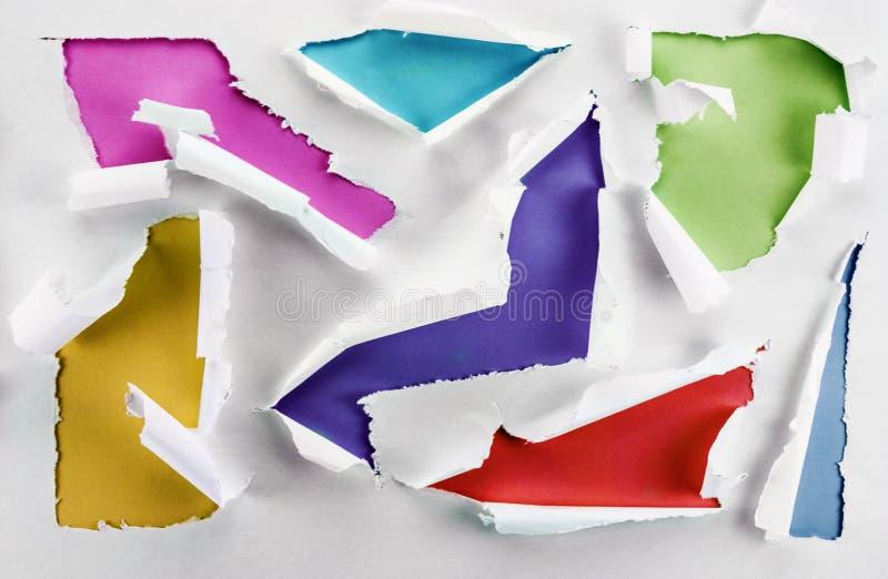Färgrika hål. arkivbild