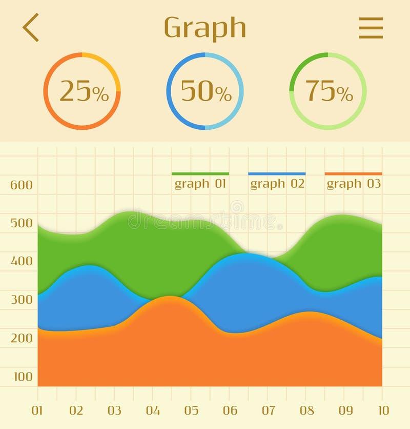 Färgrika infographic beståndsdelar för abstrakt affär royaltyfri illustrationer