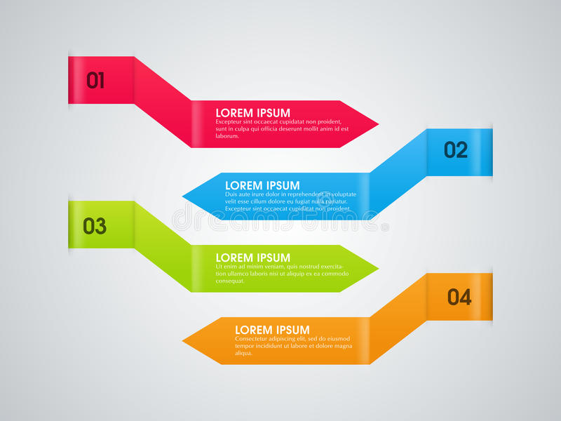 Färgrika infographic pilar för affär vektor illustrationer